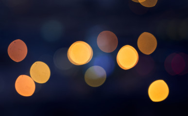 Light night city bokeh abstract