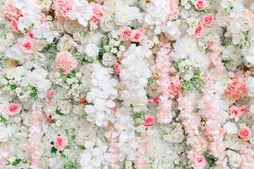 Beautiful flowers background for wedding scene.