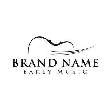 violin abstract logo vector