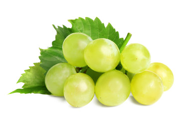 Fototapete - Fresh ripe juicy grapes isolated on white