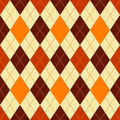 argyle seamless vector pattern in autumn colors