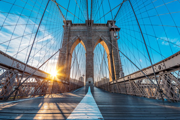 a magnificent view of the lower Manhattan and Brooklyn Bridge, New York City