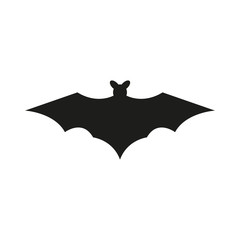 bat silhouettes on white background