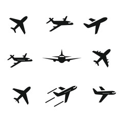 airplane icon set,symbol vector illustration