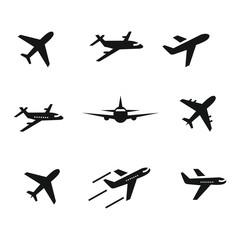 airplane icon set,symbol vector illustration