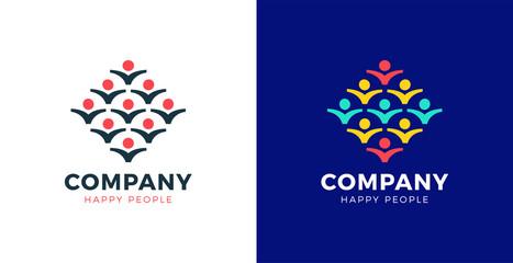 Group people logo handshake, Teamwork icon. leader concept vector illustrator