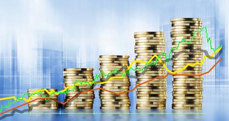 Konzeptfoto Aktienkurse, Investment, Geldanlage,