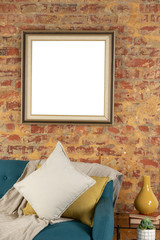 Blank picture on a wall