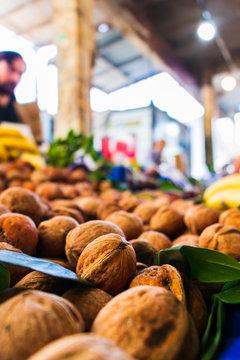 walnuts in the market
