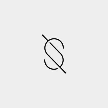 Letter S SS Logo Design Simple Vector