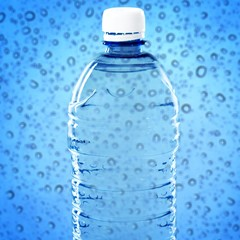 Bottle of water isolated on white background.