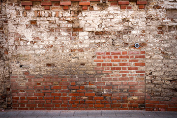 Deurstickers Wand Old brick wall