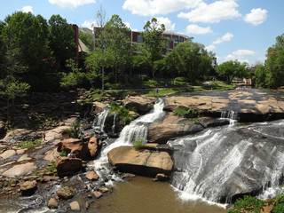 Falls Park on the Reedy in downtown Greenville, South Carolina.