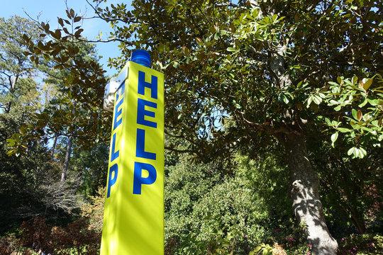 Blue Light Emergency Phone - HELP