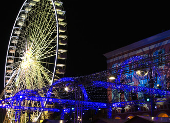 Foto auf AluDibond Nice Christmas market in Nice, France