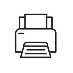 office printer icon- vector illustration