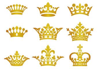 綺麗な王冠 イラレ 花の画像
