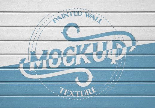Painted Wood Texture Mockup