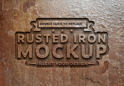 Rusted Metal Text Effect Mockup