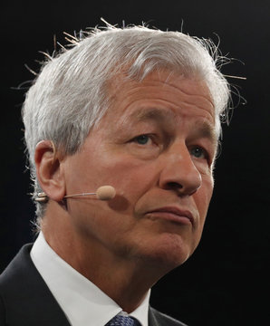 Jamie Dimon, chairman & CEO of JP Morgan Chase & Co., listens to a question during the Bloomberg Global Business Forum in New York City