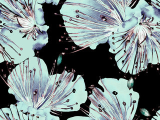 Bold Abstract Floral Pattern.