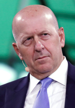 David Solomon, the CEO of Goldman Sachs, listens to a question during the Bloomberg Global Business Forum in New York City
