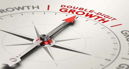 Double-Digit Growth Rate. Annual Results Concept