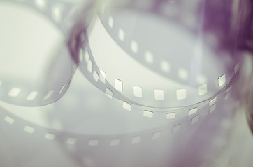 Abstract background of film rings, soft focus close-up