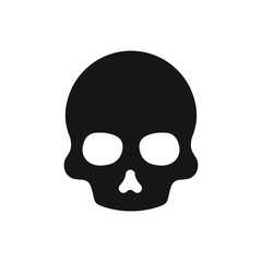 skull icon design flat vector