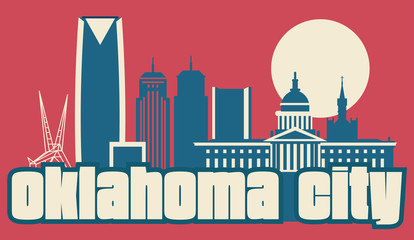 Fotomurales - Oklahoma City USA skyline