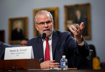 Daniel Elwell, deputy administrator of the Federal Aviation Administration, speaks during a House Appropriations subcommittee hearing on aviation certifications, on Capitol Hill in Washington