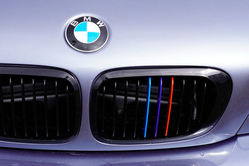 BMW car logo and grill close up Motorsport