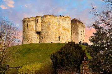 Clifford's Tower in York, Yorkshire, England, UK