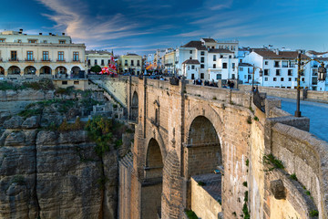 The New Bridge at Christmas time, Ronda, Spain