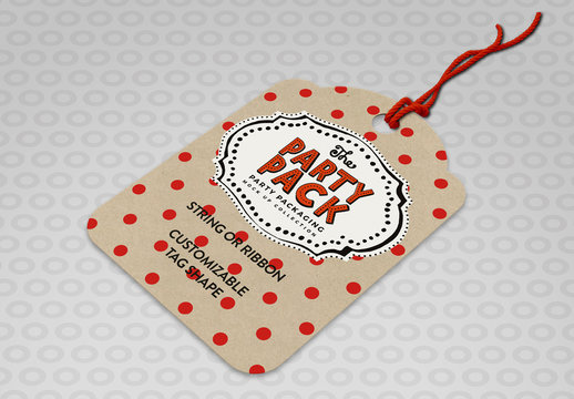 Gift Tag with Customizable Shape Mockup