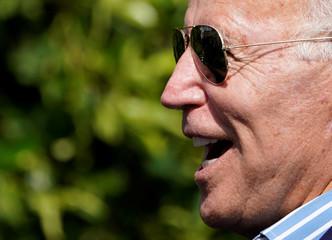 Former U.S. Vice President and Democratic presidential candidate Joe Biden attends a fundraiser in Manhattan Beach, California