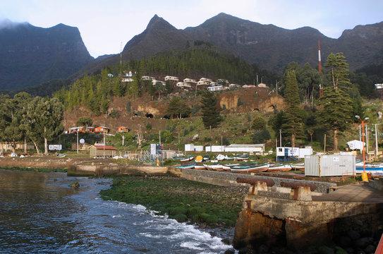 The Cumberland Bay is seen at the Robinson Crusoe Island, at the Juan Fernandez Archipelago
