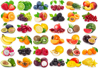 Collection of fresh fruits and berries