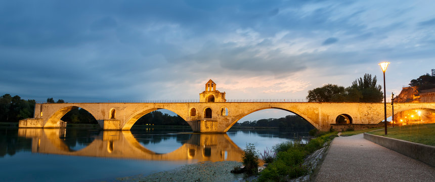 Pont d'Avignon is a famous medieval bridge in the town of Avignon in southern France.