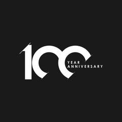 100 Years Anniversary Vector Template Design Illustration