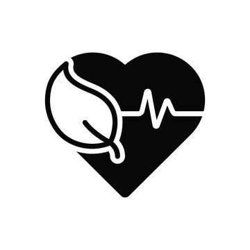Black solid icon for health