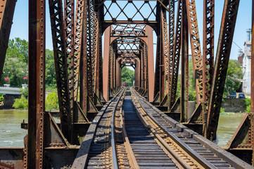 Iron Structure Railroad Bridge
