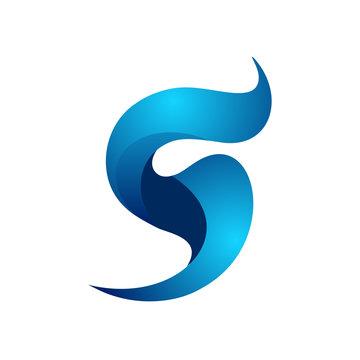 S icon logo vector