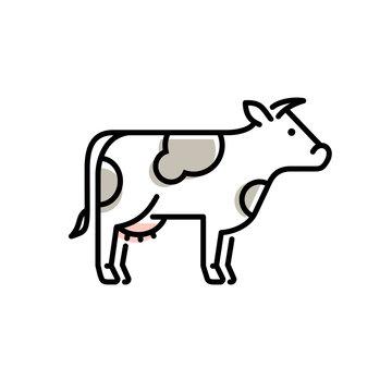 Vector cow icon logo design.