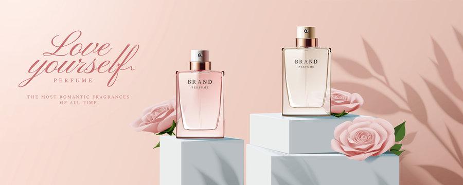 Elegant perfume ads