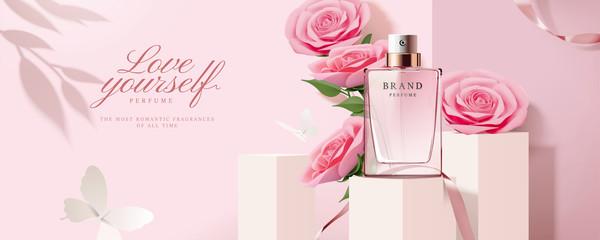 Fototapeta Elegant perfume banner ads