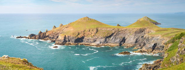 Foto op Plexiglas Noord Europa Panoramic View of Rumps Point peninsula in Cornwall.