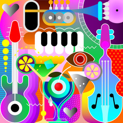 Photo sur Aluminium Art abstrait Musical Design