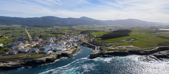 aerial view of Ribadeo in Lugo, Galicia