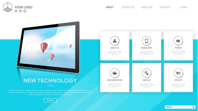 Web page design template. Modern vector illustration concepts for website and mobile website development.